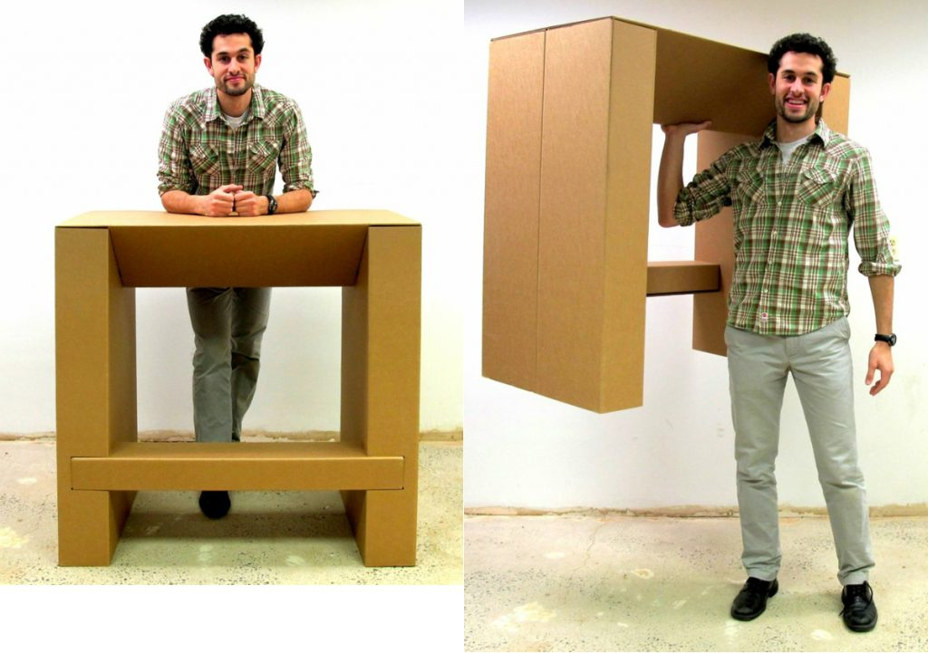 Image of: Cardboard Standing Desk Design