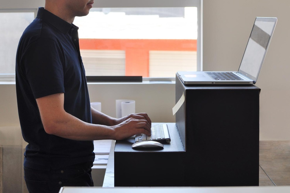 Image of: Cardboard Standing Desk Functional