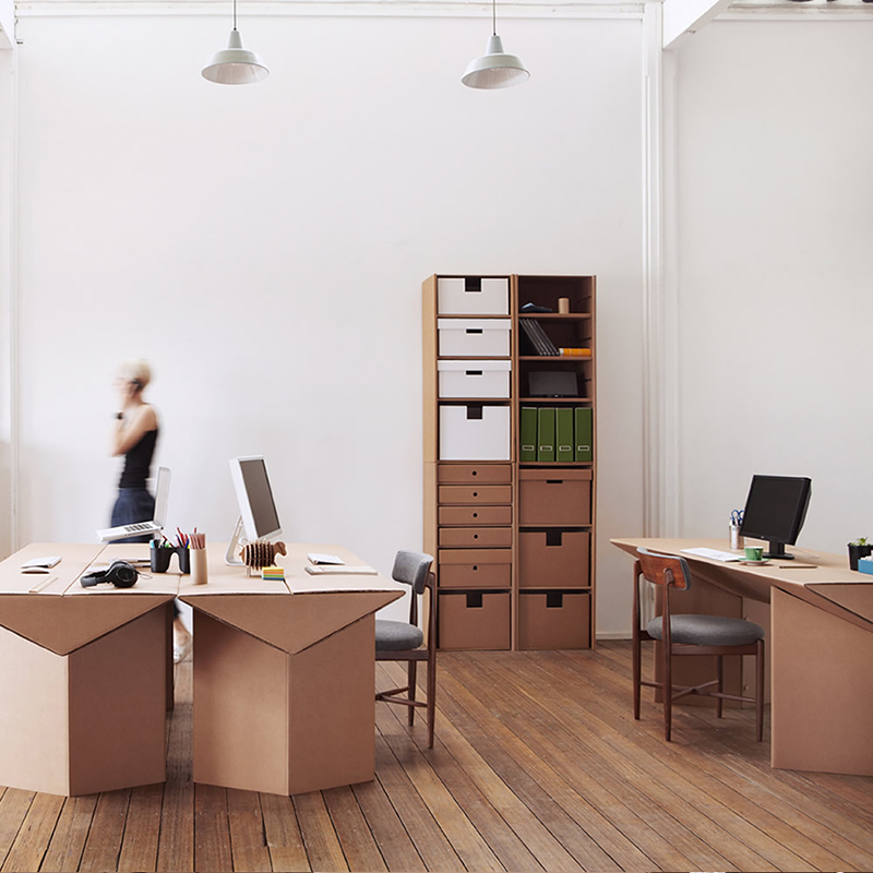 Image of: Cardboard Standing Desk Office