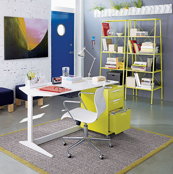 Image of: Colored Desks Styles