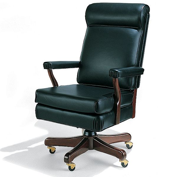 Image of: Comfortable Desk Chair Green