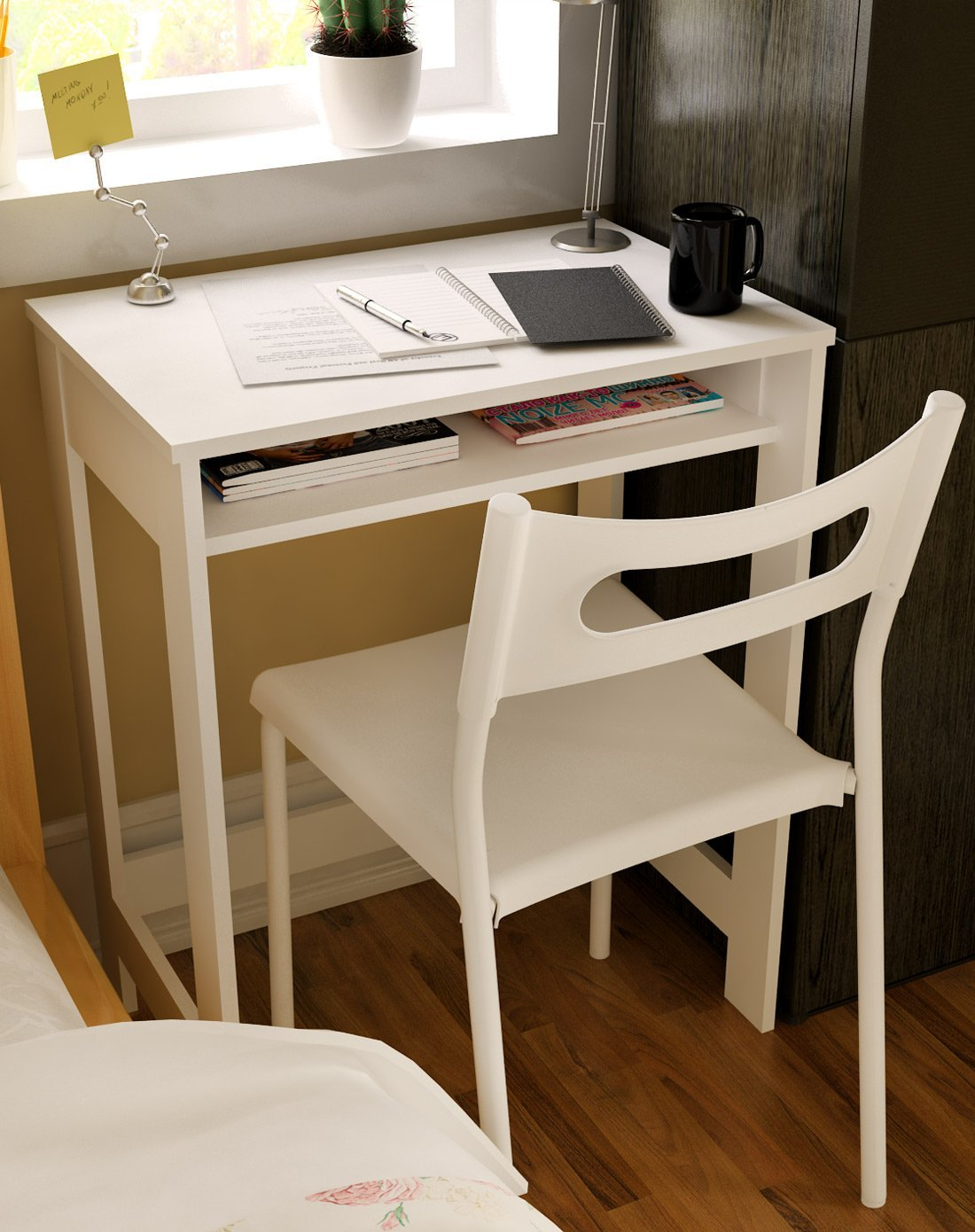 Image of: Compact Computer Desk White