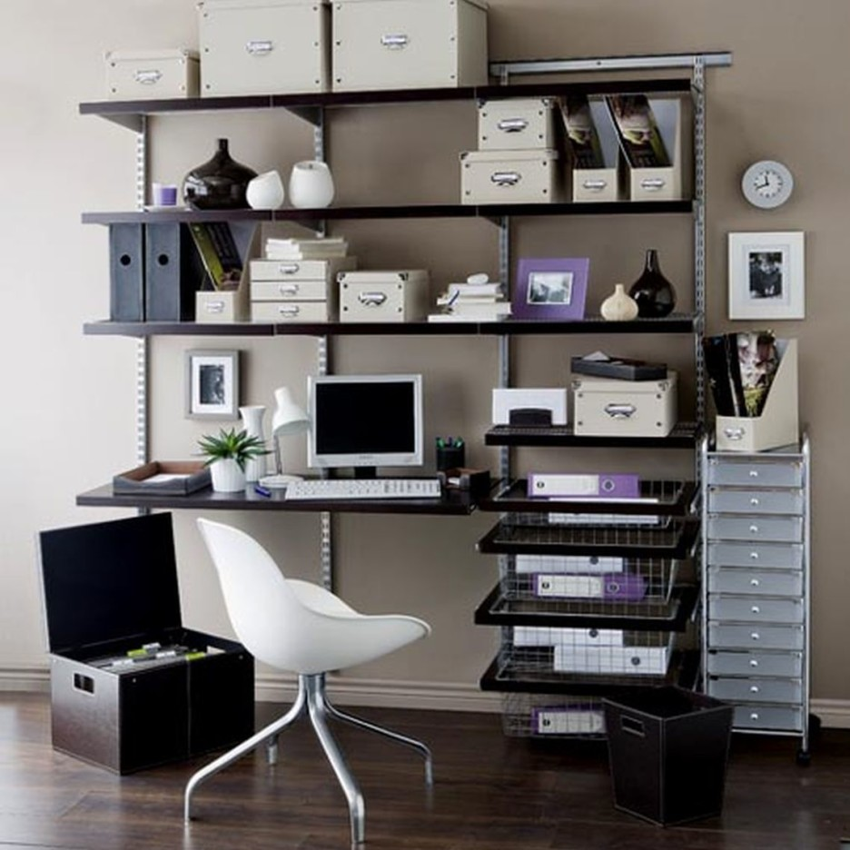 Image of: Computer Desk With Bookshelf Design