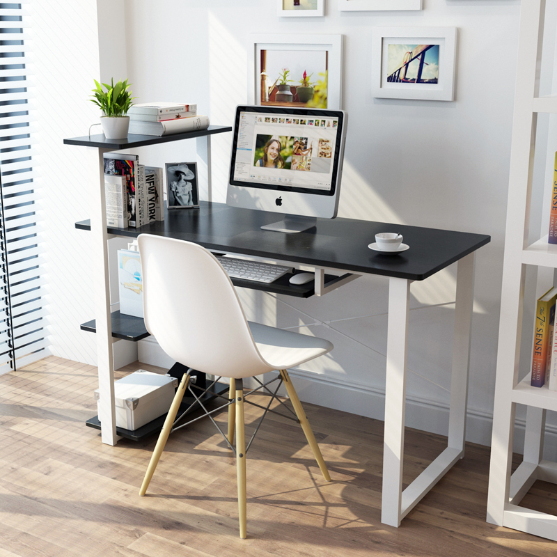 Image of: Computer Desk With Bookshelf Simple