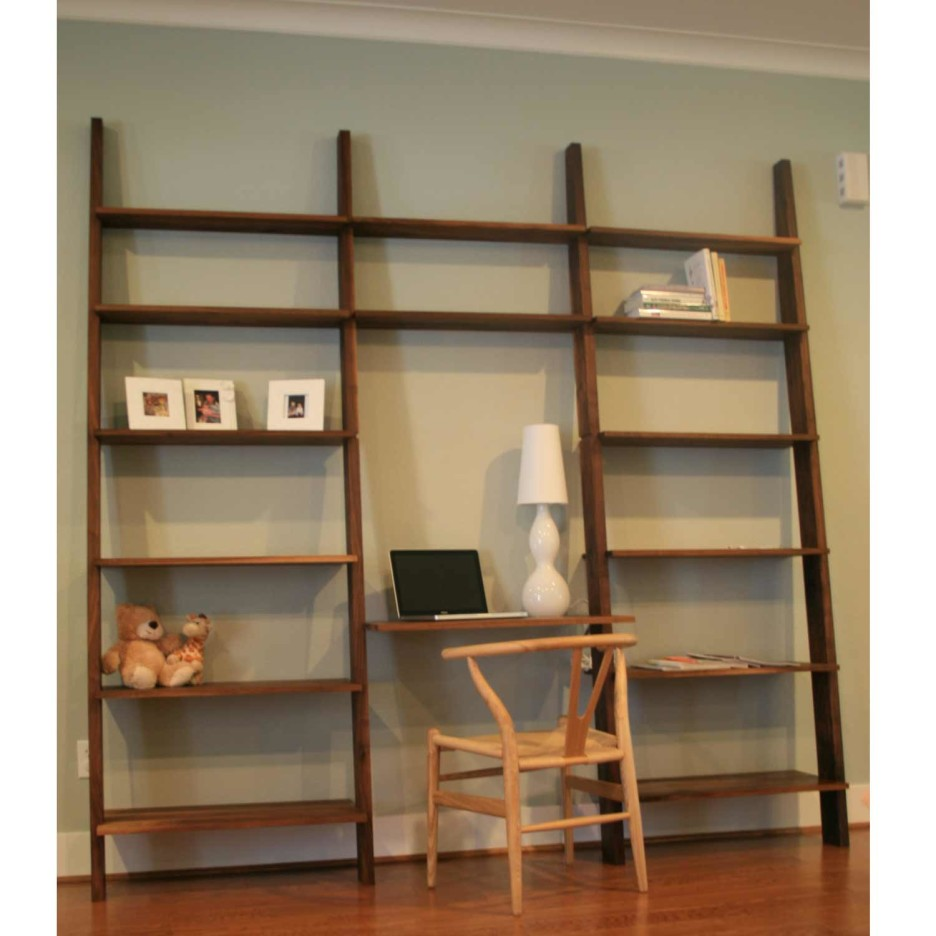 Image of: Computer Desk With Bookshelf Wall