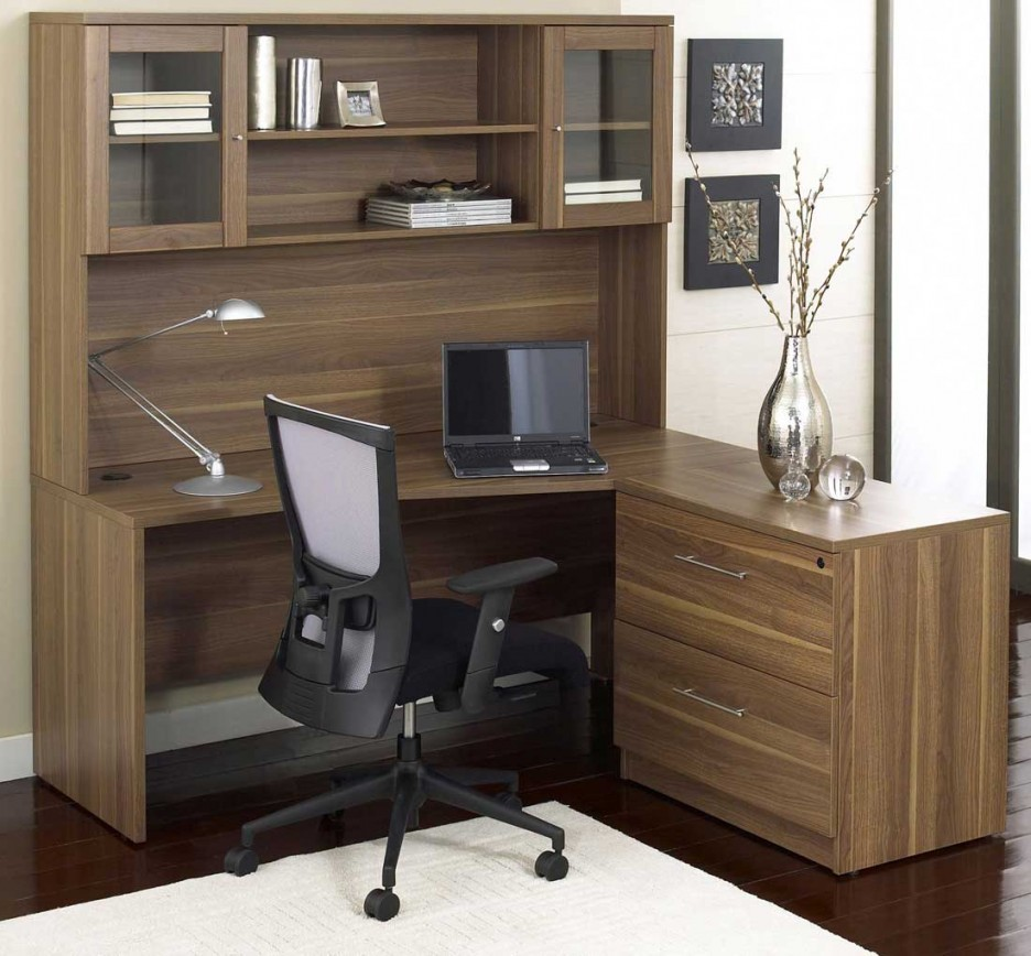 Computer Desk With Bookshelf Wood