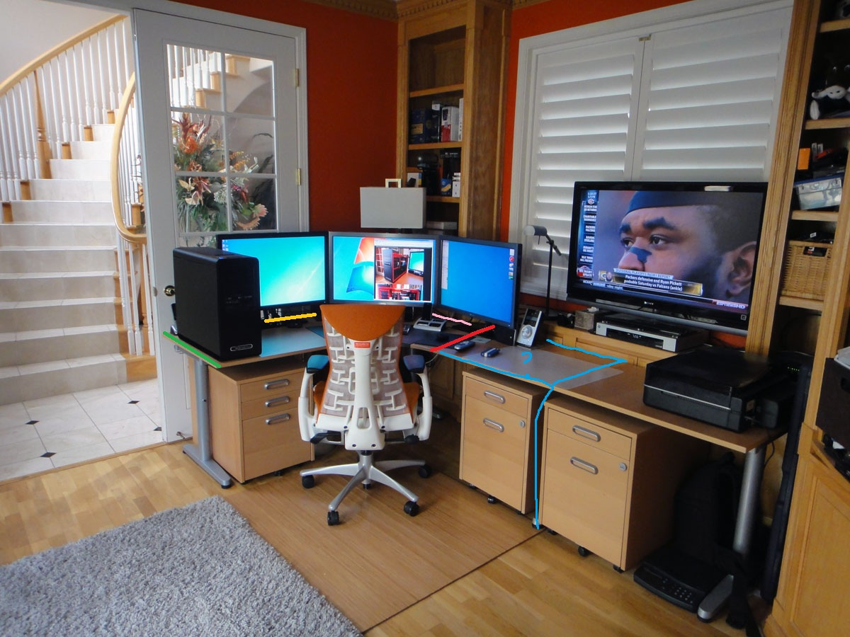 Image of: Computer Desk With Hutch IKEA Idea