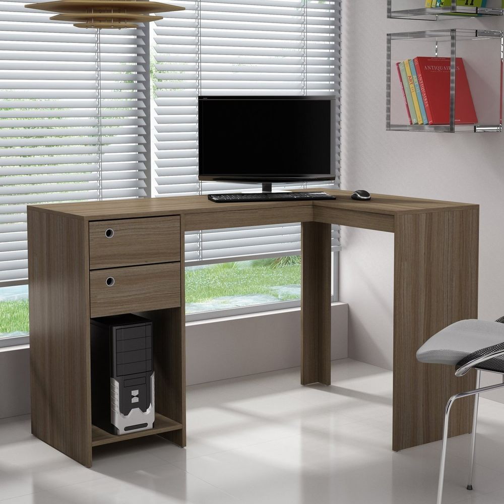 Image of: Contemporary Writing Desk L Shape