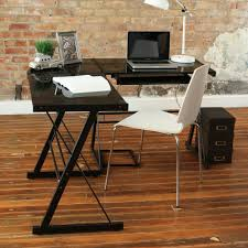 Image of: Cool Black Corner Desk