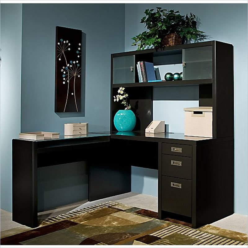 Image of: Corner Computer Desk With Hutch Image