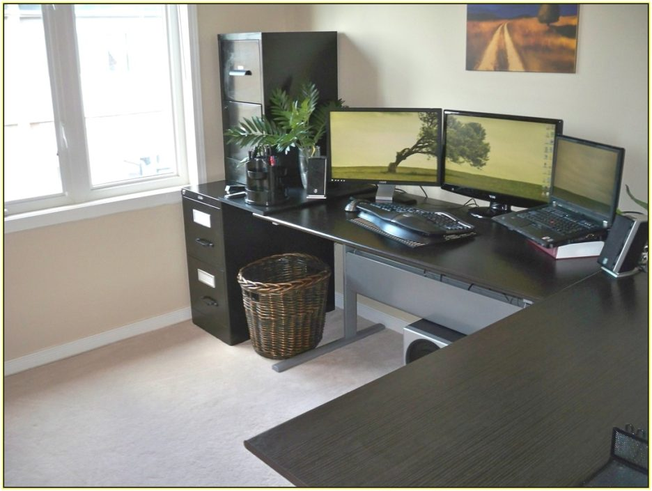Image of: Corner Stand up Desk Contemporary