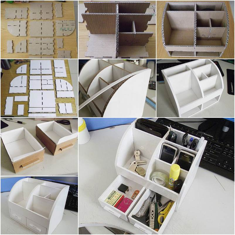 Image of: Created Desk Organiser