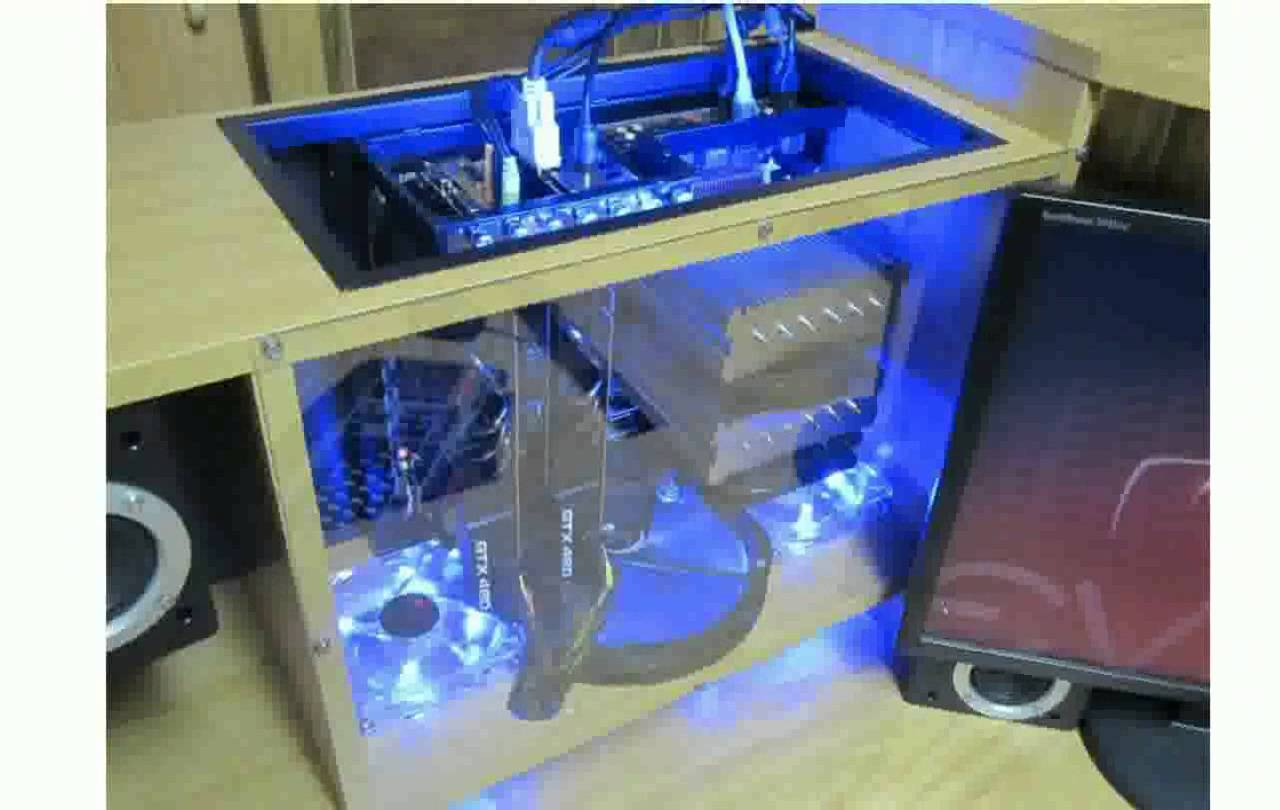 Image of: Custom Computer Desk Lighting