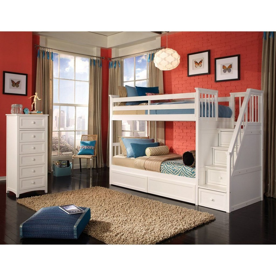 Image of: Cute Bunk Bed with Desk Cheap