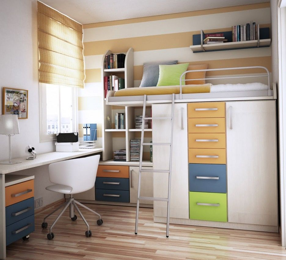Decorations Bunk Bed with Desk Underneath