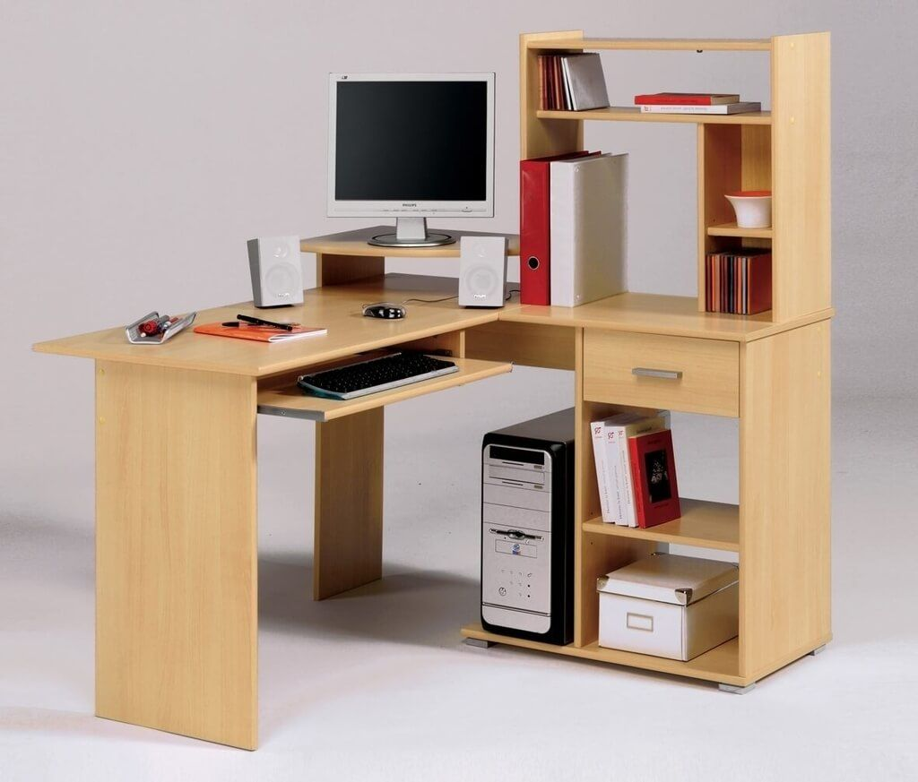 Image of: Deep Computer Desk Plywood