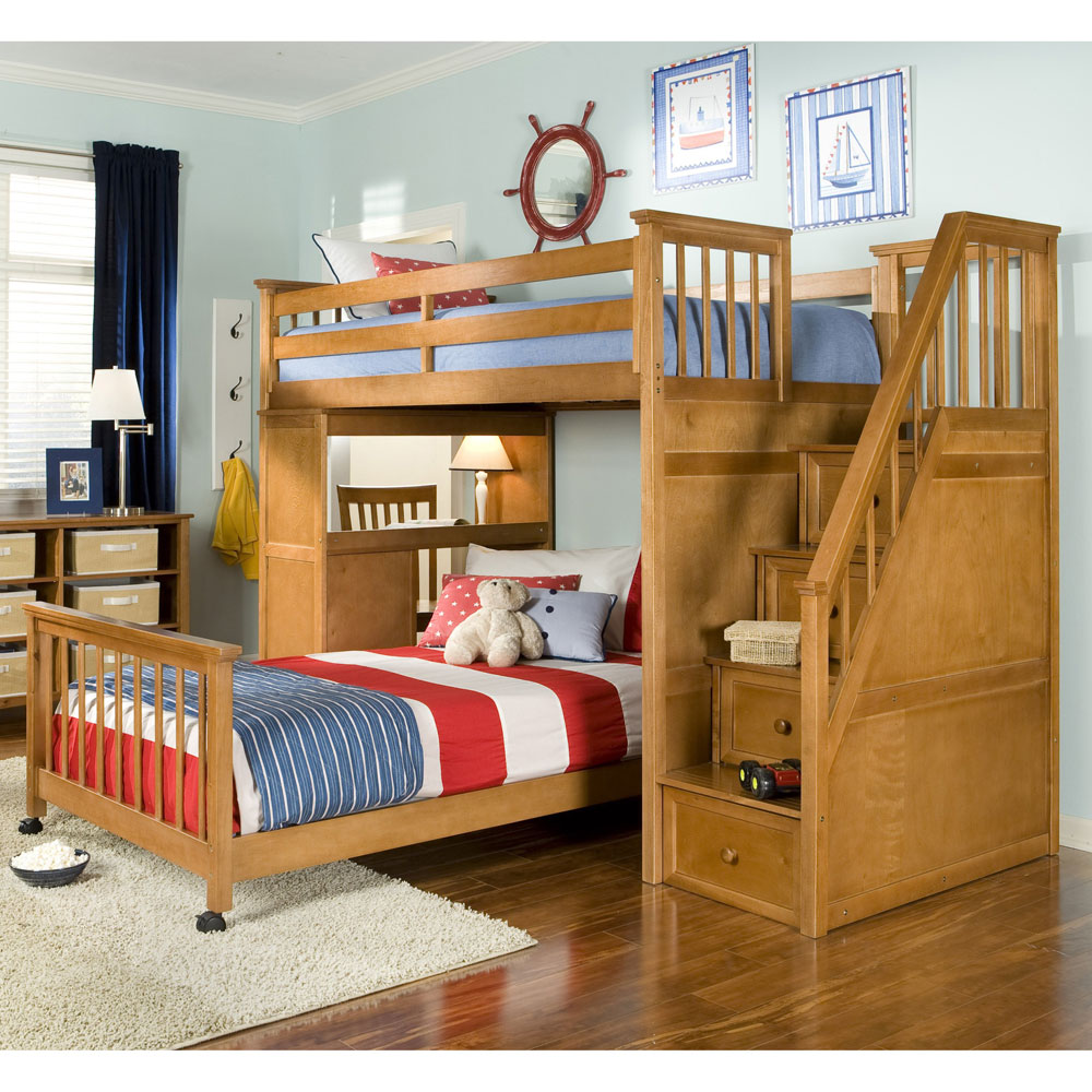 Image of: Design Boys Bunk Bed With Desk
