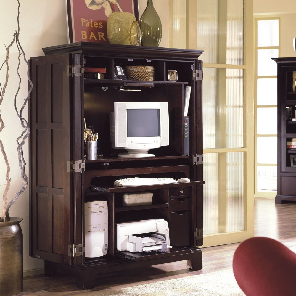 Image of: Desk Armoire Style