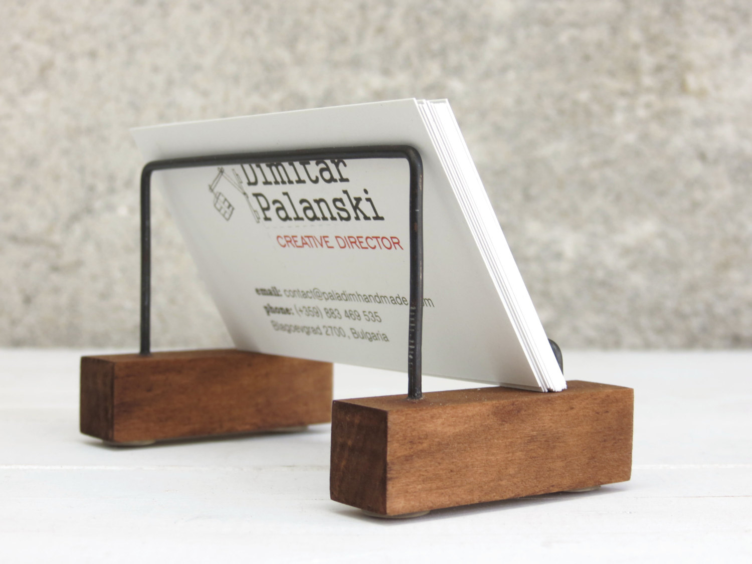 Image of: Desk Card Holder