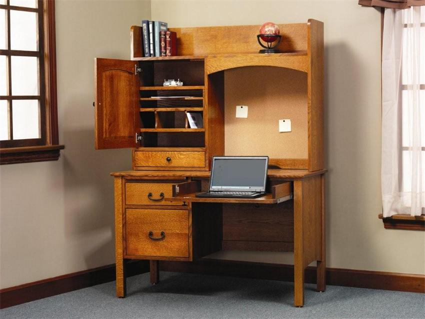 Image of: Desk Hutch Organizer Storage