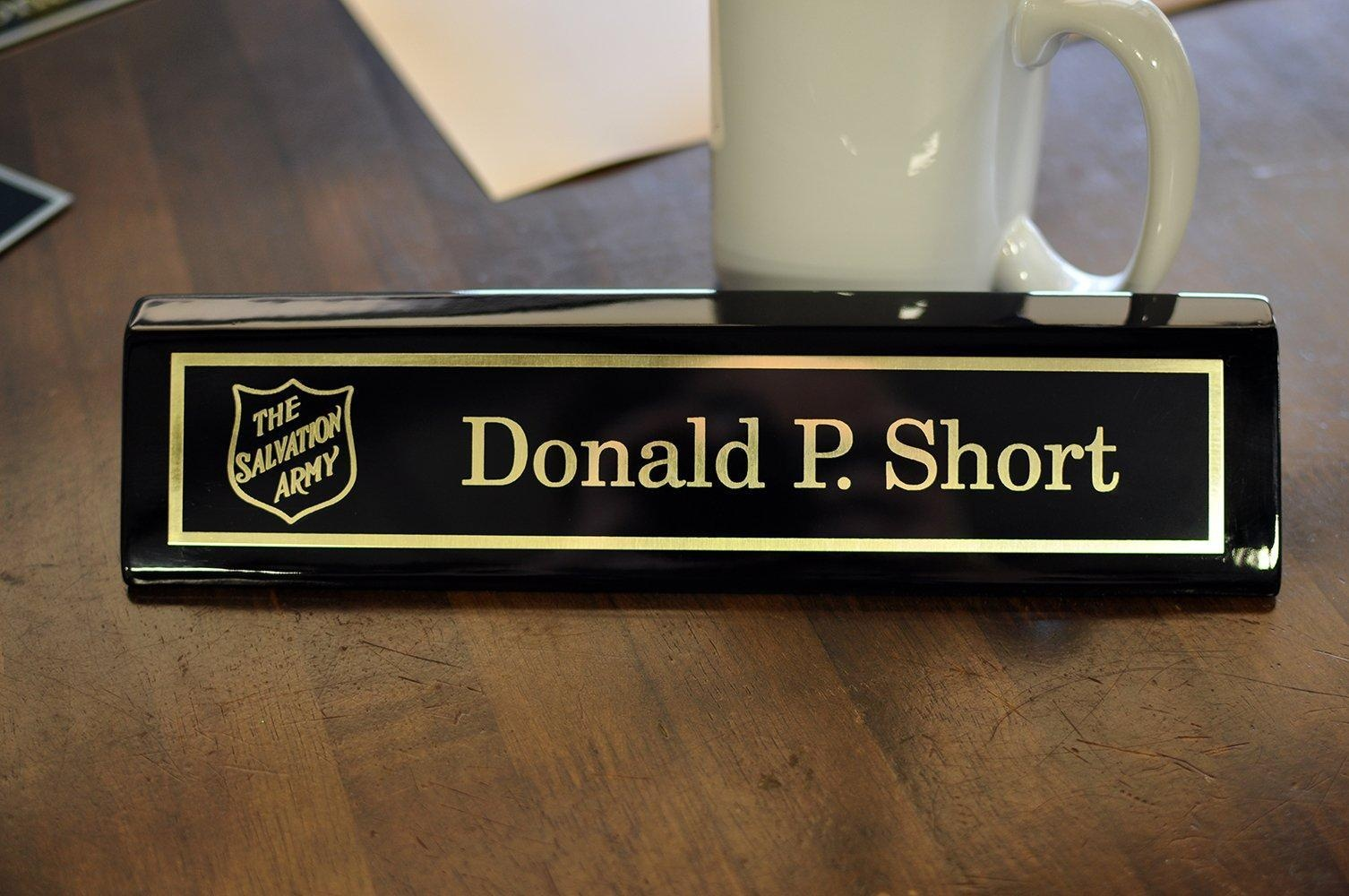 Desk Name Plate Black