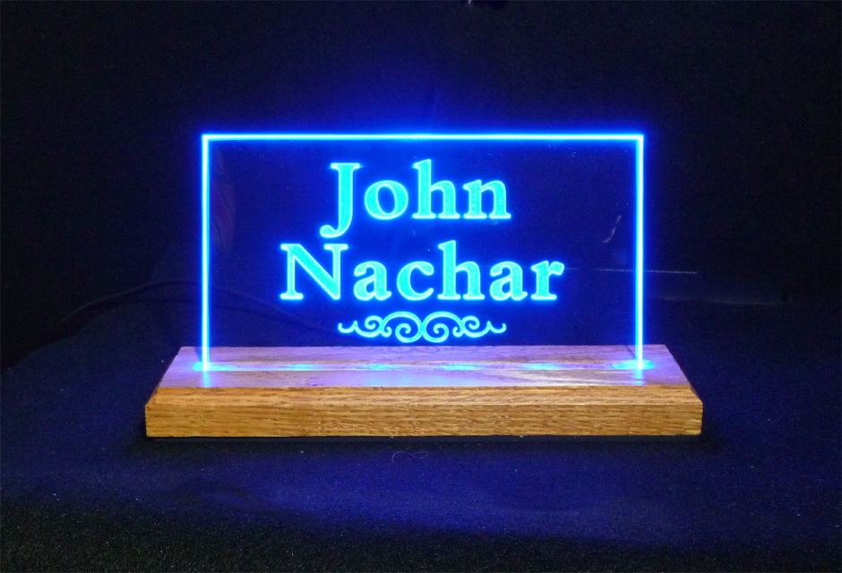 Image of: Desk Name Plate Usb Powered