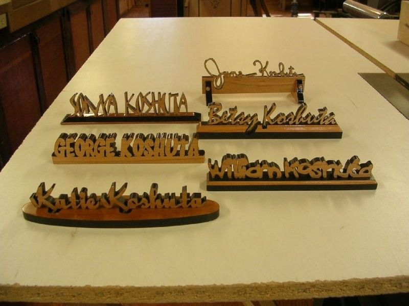 Image of: Desk Name Plate Wood