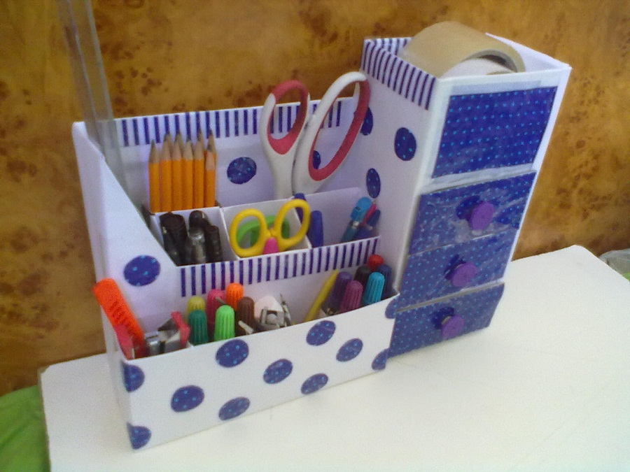 Image of: Desk Organiser Diy