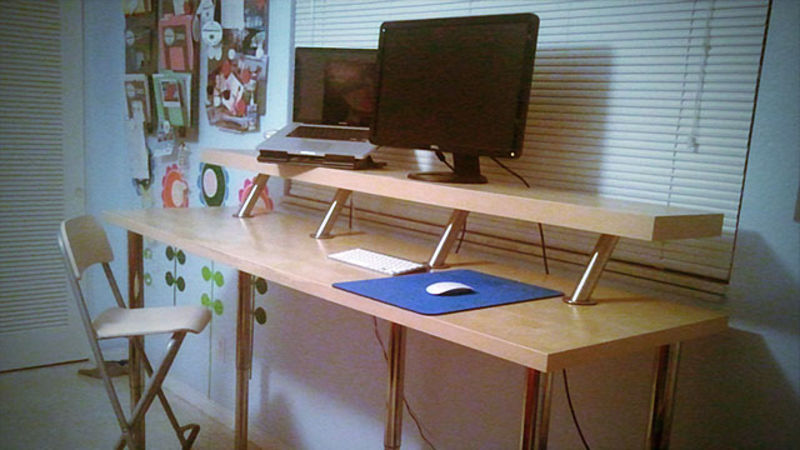 Image of: Diy Adjustable Height Computer Desk