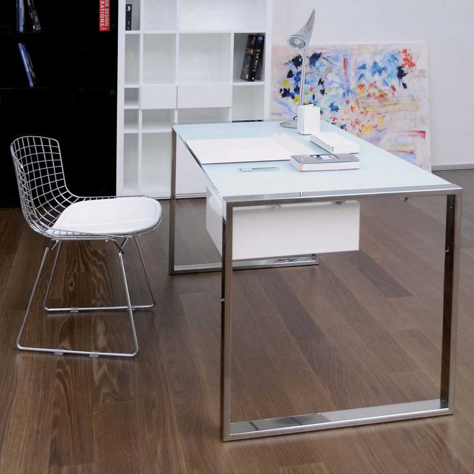 Image of: Glass Top Art Desk Ikea