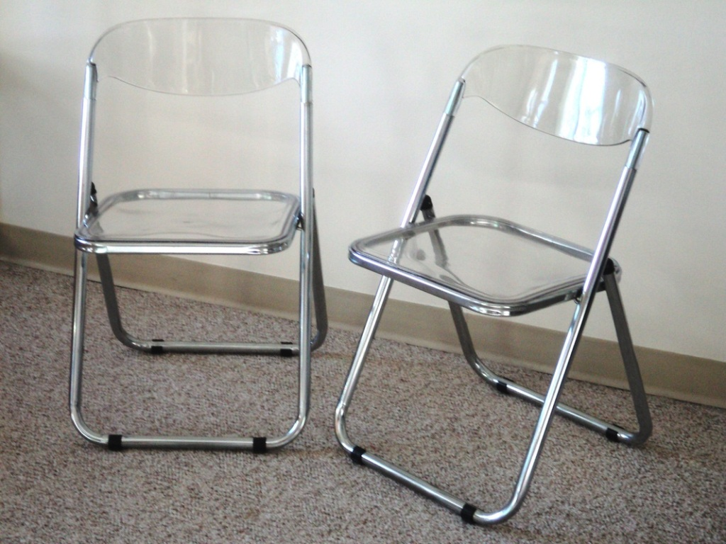 Image of: Great Clear Plastic Desk Chair