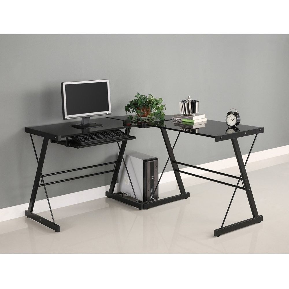 Image of: Ideas Black Corner Desk
