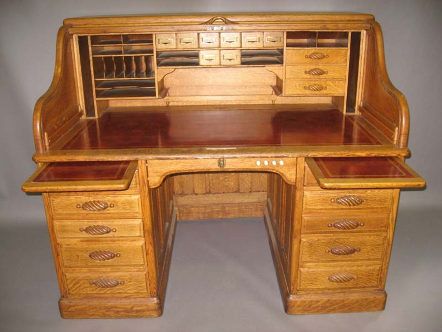 Image of: Image Antique Roll Top Desk