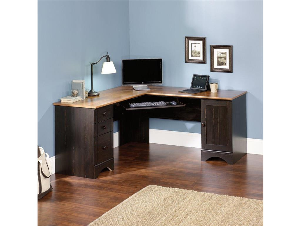 Image of: L Shaped Corner Computer Desk With Storage