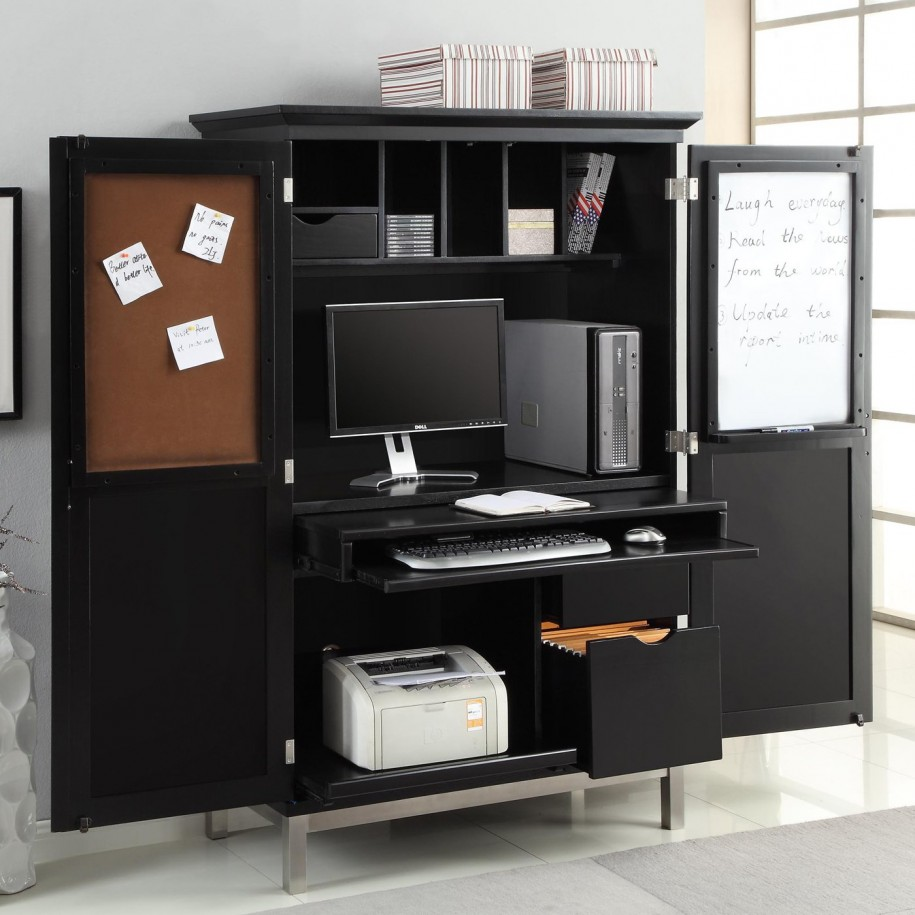 Image of: Modern Desk Armoire
