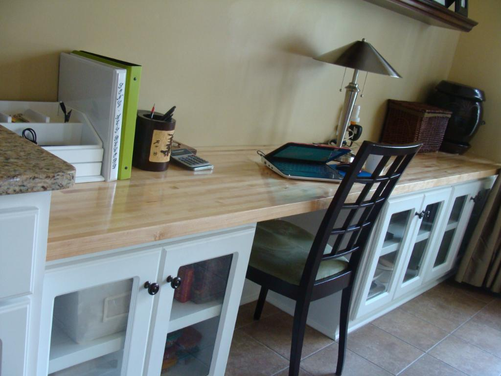 Image of: New Butcher Block Desk