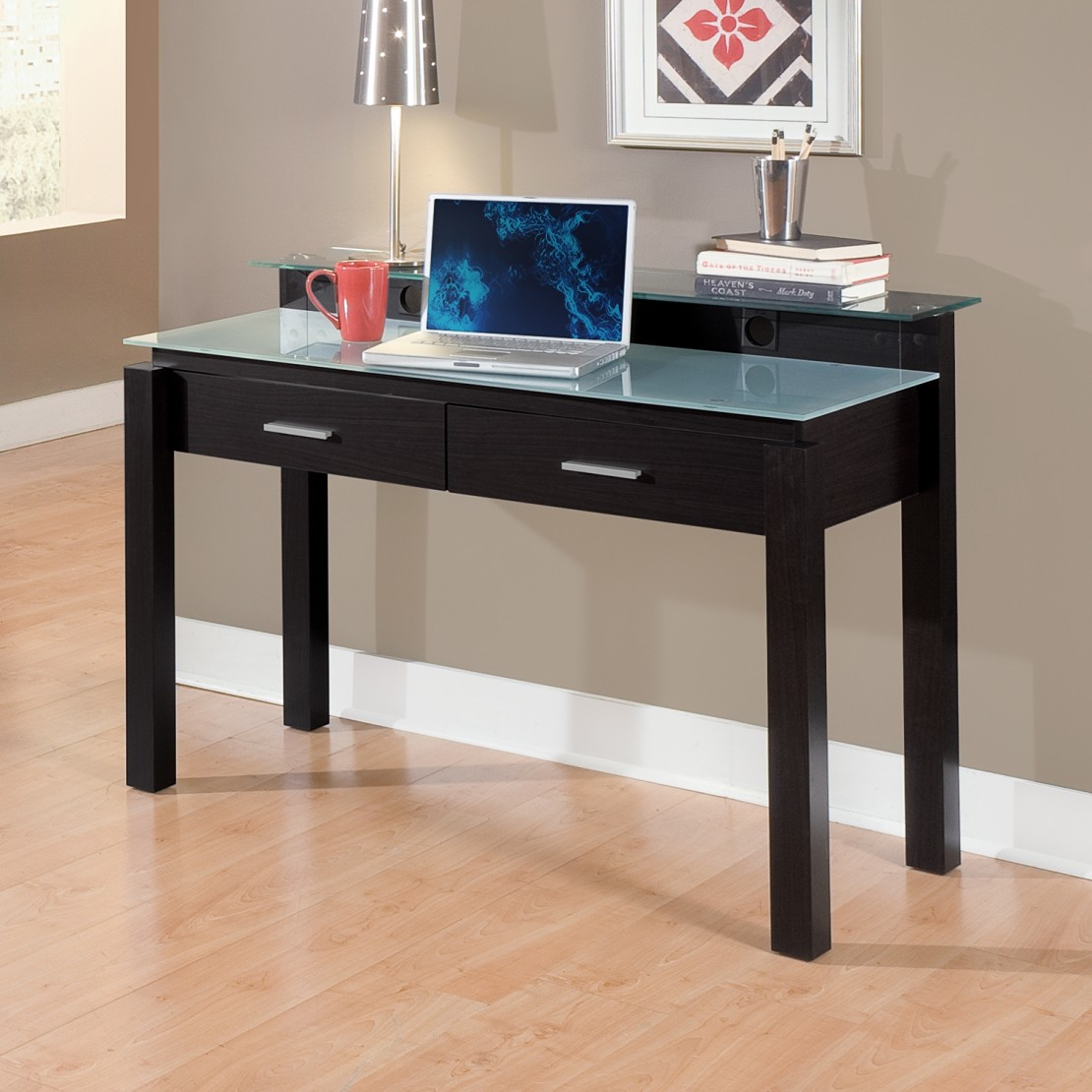 Image of: Simple Corner Computer Desk With Storage