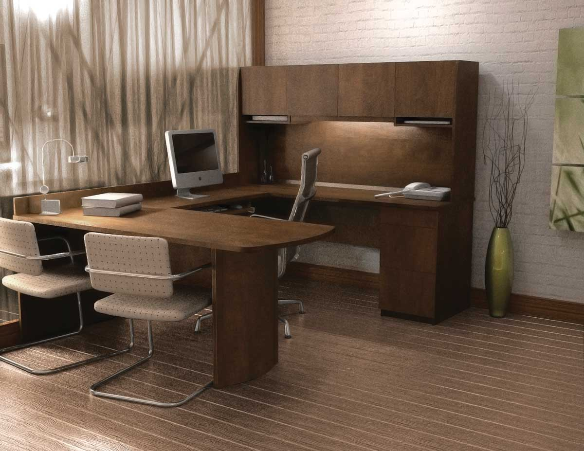 Image of: Small Computer Desk with Hutch IKEA
