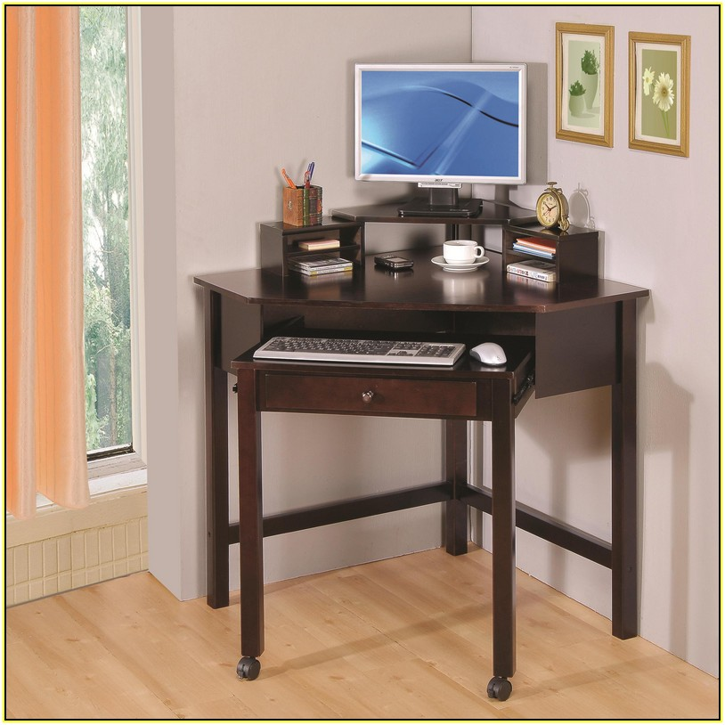 Image of: Small Corner Computer Desk Ikea