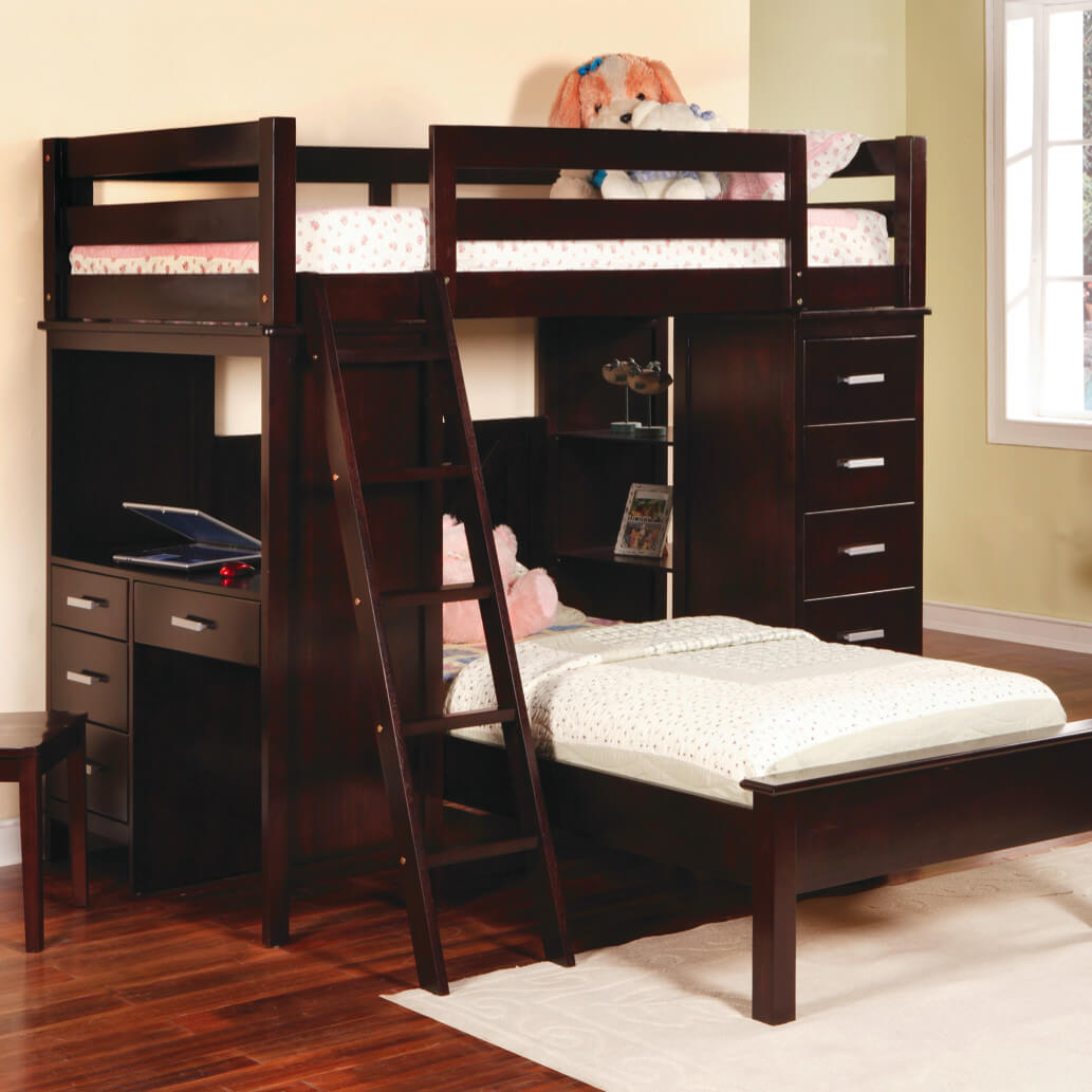 Image of: Top Bunk Beds With A Desk