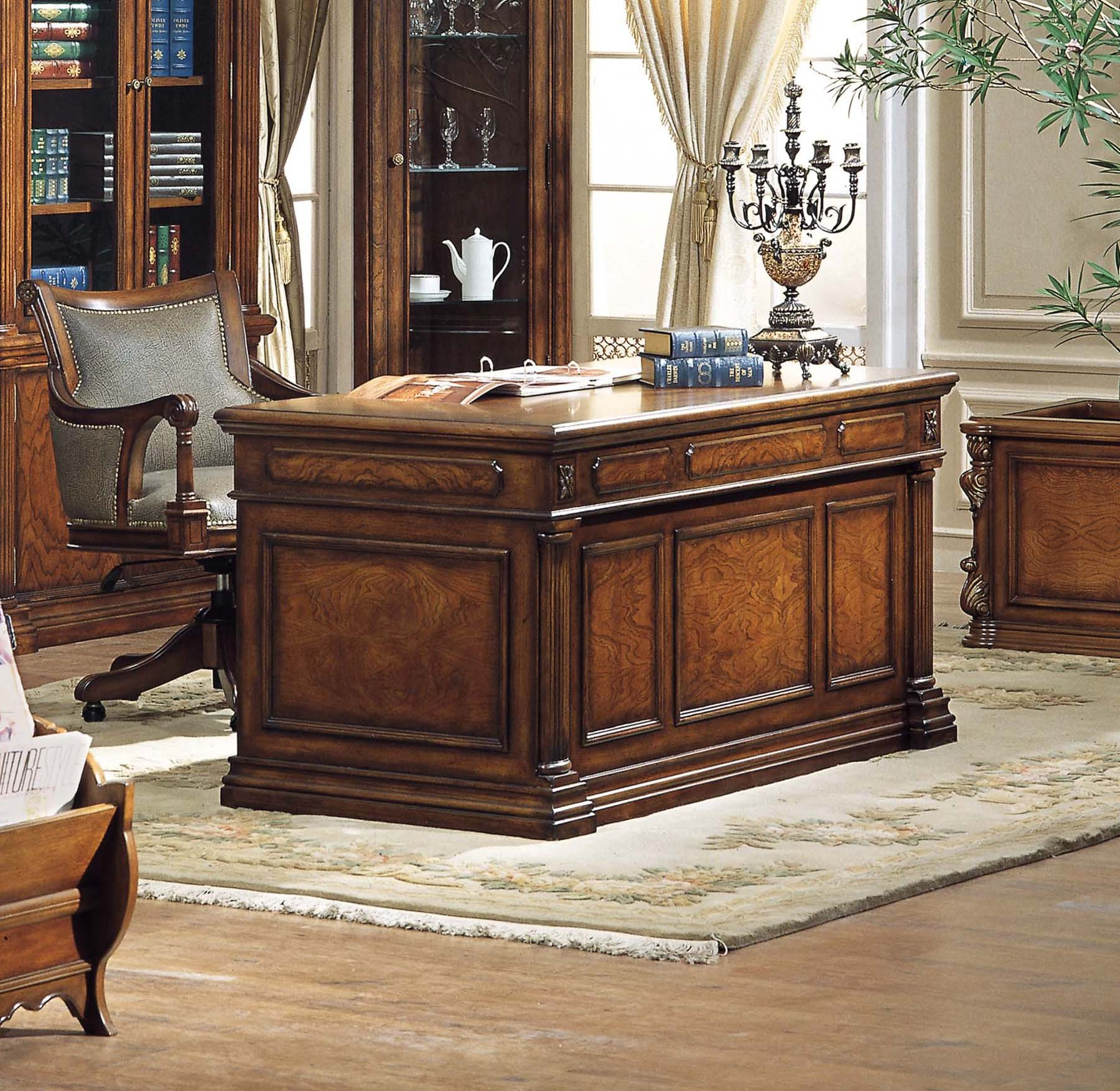 Image of: Wonderful Antique Executive Desk