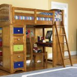 Wood Bunk Beds for Kids with Desk