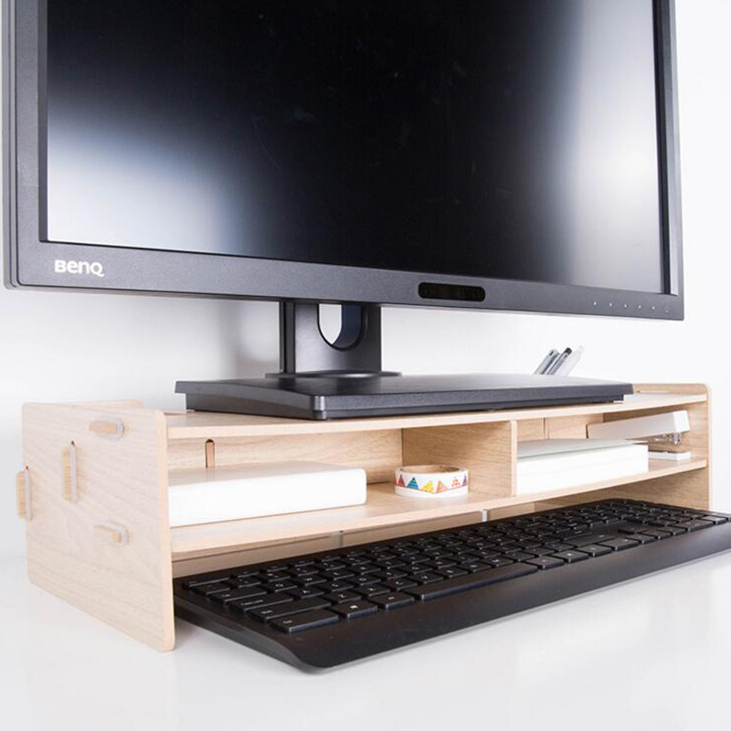 Image of: Wood Computer Desk Accessories