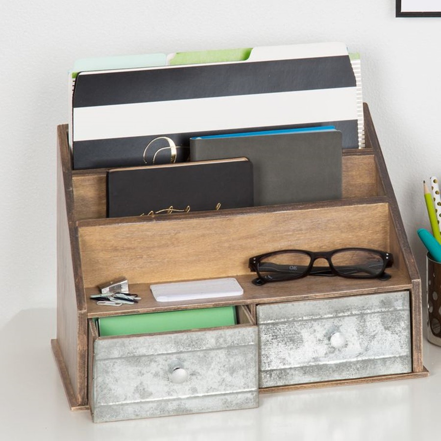 Image of: Wooden Desk File Organizer