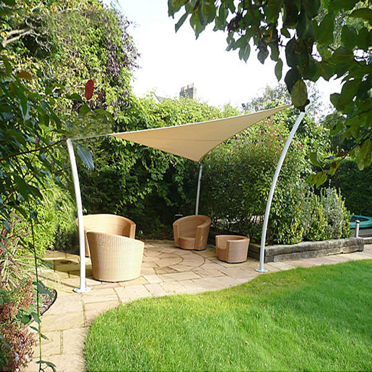 Image of: 12×12 Feet Triangle Patio Cover