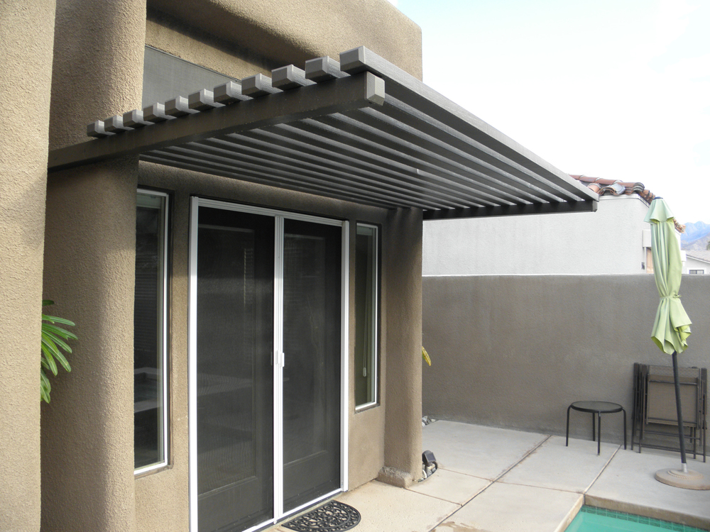 Aluminum Wood Patio Cover Small
