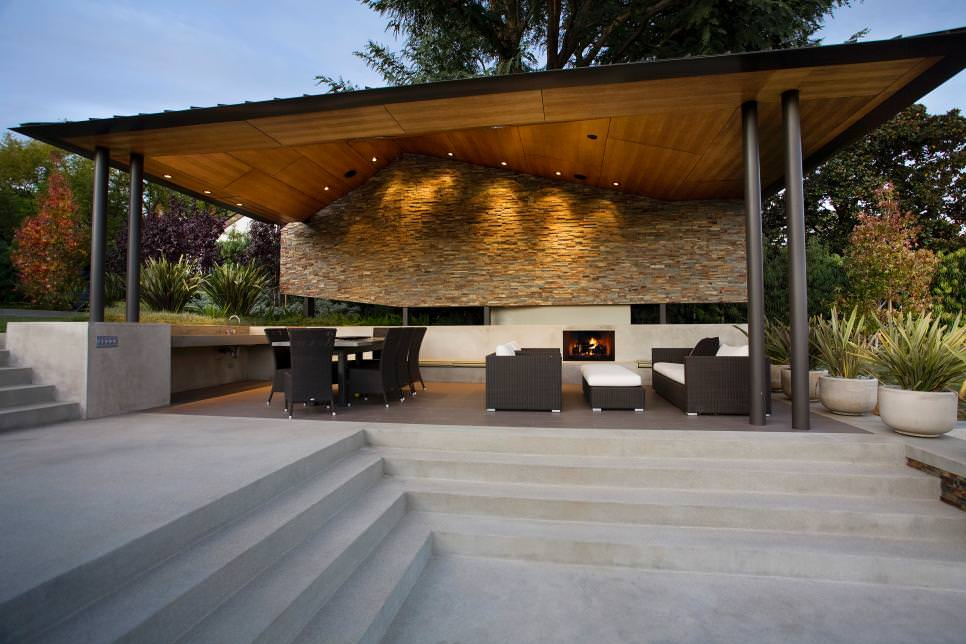 Image of: Asymmetrical Patio Cover Designs