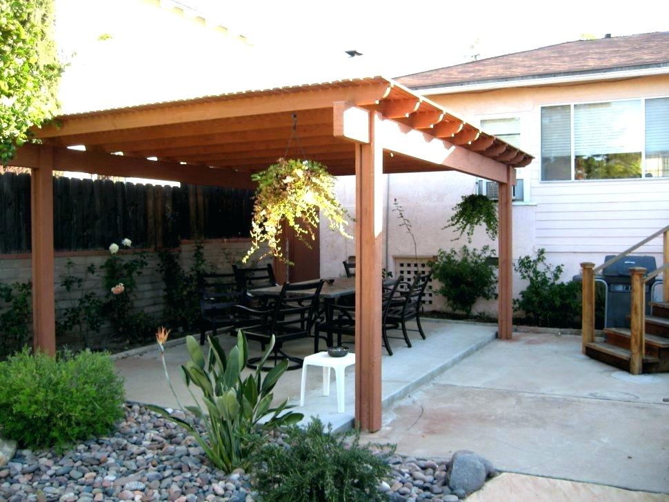 Image of: Attached Patio Cover Design