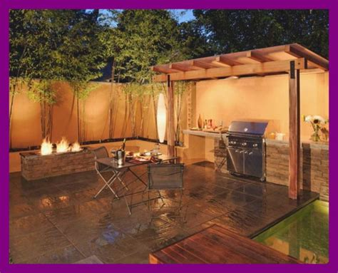 Image of: Awesome Backyard Grill Patio Ideas