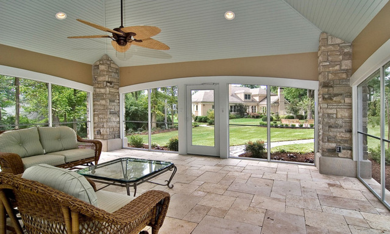 Image of: Back Enclosed Patio Ideas